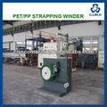Controlo automático do plc pet cintas de banda winder, pp/pet strapping banda linha de produção