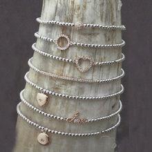 wholesale rhinestone ball charm bracelet pave bead bracelet crystal love hope faith bracelet