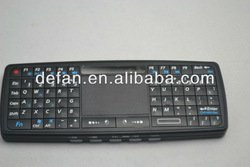 2.4g Portable Wireless Multimedia Keyboard With TouchPad/Laser/Backlight