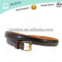 genuine alligator skin belt 30 32 brown unisex slim mens womens