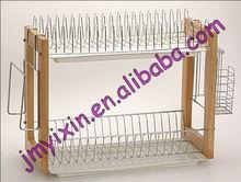 Metálicos de almacenamiento de utensilios titular de dos niveles/cena cocina escurridor placa de rejilla de secado