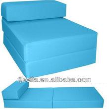 Block Foam Folding Chair Bed Z Guest Futon In/Outdoor -Blue