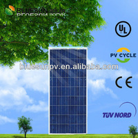 cheapest poly 130wp american made solar panels