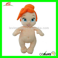 LE-D465 Little Mermaid Plush Soft Fabric Doll Nude No Clothe Naked Baby Doll