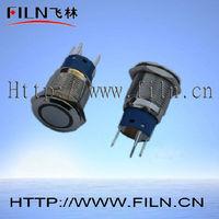 16mm diameter metal button machine on off switch 2no2nc