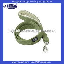 bright shinny cotton fabric leash with logo pet dog leash