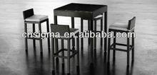 New!!! 2013 Hong Kong Outdoor Poly Rattan Furniture 4 Seat Bar Set
