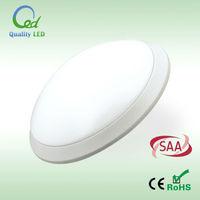 2D bulkhead LED ceiling light with motion sensor