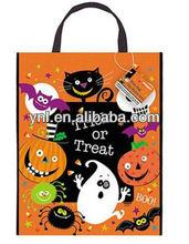 Spooky Smiles Halloween Tote Bag Black Cat/pumpkin/ghost