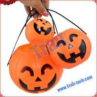 Cheapest One Dollar Halloween Decorations Plastic Halloween Pumpkin Buckets Wholesale