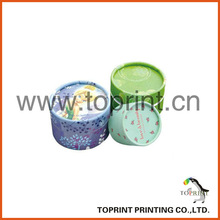 small round loose packaging cosmetic loose powder container and puff