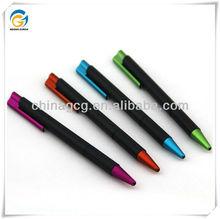 Promotion School Hotel,Black Barrel,Plastic,Click Ball Pen