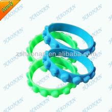 Design personalized love friendship silicone rubber bracelets for women