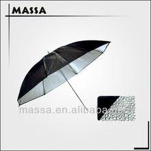 33inch 84CM Studio Light Grained Black & Silver Umbrella