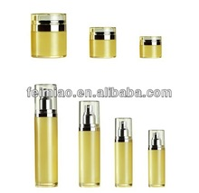 Airless acrylic cosmetic cream jar and bottle