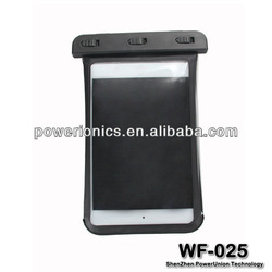 Hand-held waterproof pouch for Ipad mini Sealed by Clip