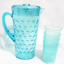 wholesale 5pcs/set 2400ml clear plastic pink / blue water pitcher / juice bottle / cooler jug / kettle / dispenser