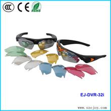 Excellent!!sunglasses hidden camera with 5 color lens for choose 720p&EJ-DVR 32I