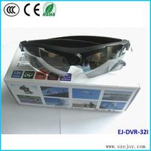 Excellent!!video camera sunglasses with 5 color lens for choose 720p&EJ-DVR 32I