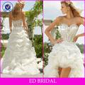 gw09132 sweetheart frisado appliqued organza azul royal e branco vestidos de noiva