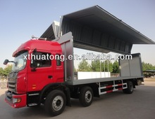 Huaren wing opening container van box truck 6*2 JAC Chassis