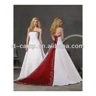 WD-1877 Popular red and white embroidered wedding dresses copy designer wedding dresses in karachi