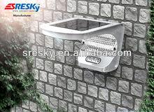3W solar panel 4000 Li-ion battery Solar LED outdoor wall light easy to install on any wall or pole Shenzhen Sresky ESL-08