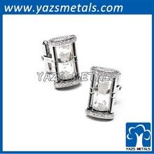 Diamond Hourglass Cufflinks