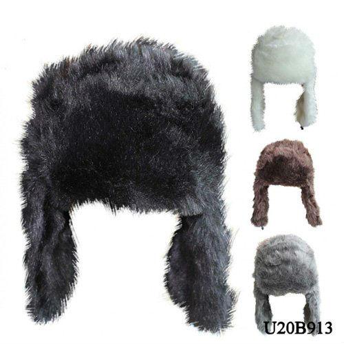Animal Soft Warm Cap Hat Winter Fleece Lined Ski Ear Muff Hat And Cap