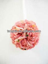 artificial single flower manufacturer Popular hanging flower balls for wedding