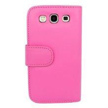 S3 I9300 Premium Wallet Case Hot Pink