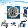 2013 novo design tipo pequeno 30w co2 laser máquina de impressão para a etiqueta de pano com data ou logotipo na venda