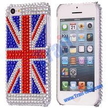 Wholesale Good Price Shining Flag Diamond Case for iPhone 5C