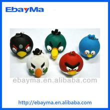 3D animal usb sticks in stock free sample gift pvc angry usb birds usb flash drive