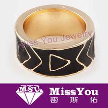 the hottest gold friendship rings black enamel ring