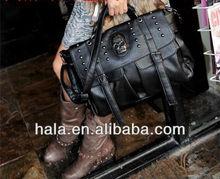 H102 kull punk rock fashion rivet bag Crossbody bag handbag factory direct