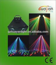 Music Active Dual Rotating LED Stage Lighting Disco Club Bar Party DJ Lights