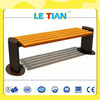Excellent outdoor wooden bench with metal legs for sale LT-2121J