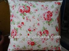 Korean deisgn rose throw pillow heat transfer print sofa indoor pillows decorate