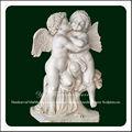 talladas a mano estatua de mármol querubín