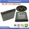 Bateria do telefone móvel carregador aplicação bl-5f para nokia e sem moq limitado