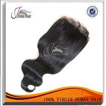 3 parting lace closure 100% virgin brazilian silk base closures