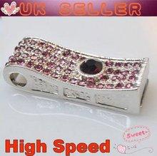 Pink Necklace Diamond Pendant USB2.0 High Speed USB Flash Drive