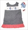 Sea dog santa hand smocked Aline dress CH20
