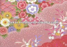 Chrysanthemum Flower Pattern Cotton Fabric Pink
