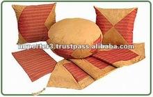 Cotton Cushion Cover / Embroidered Cushion Cover / Zipper Cushion Cover