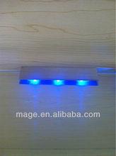 2013Newglass clip lamp led lighted glass shelf