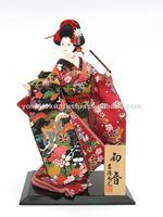 Japanese dolls traditional costume figurines Hatsune