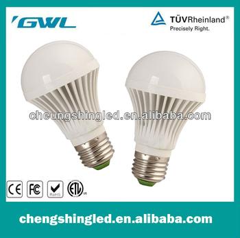 'GWL stable performance High Power CC-QP-5W-C FCC led light bulb E27 Radiator and lamp holder integration