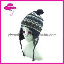 Earflap Braids Knitted Hats